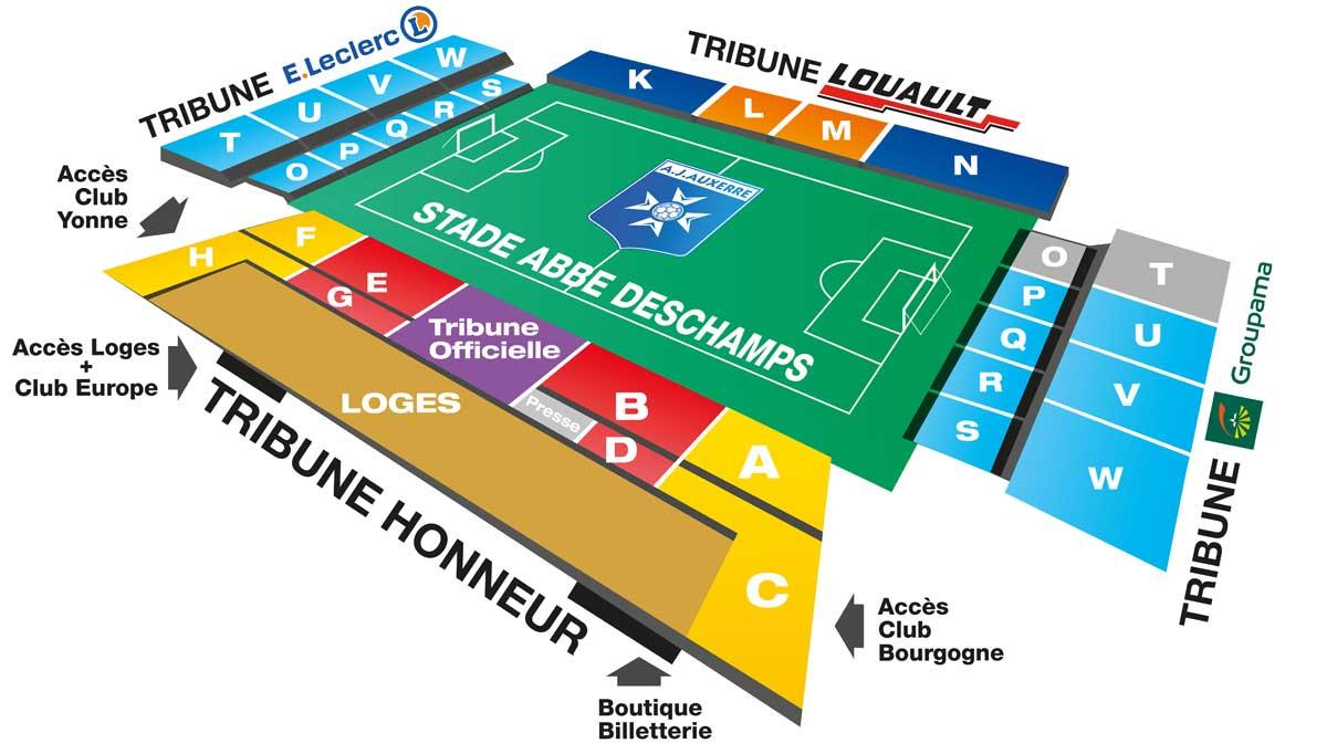 Plan du Stade Abbé Deschamps
